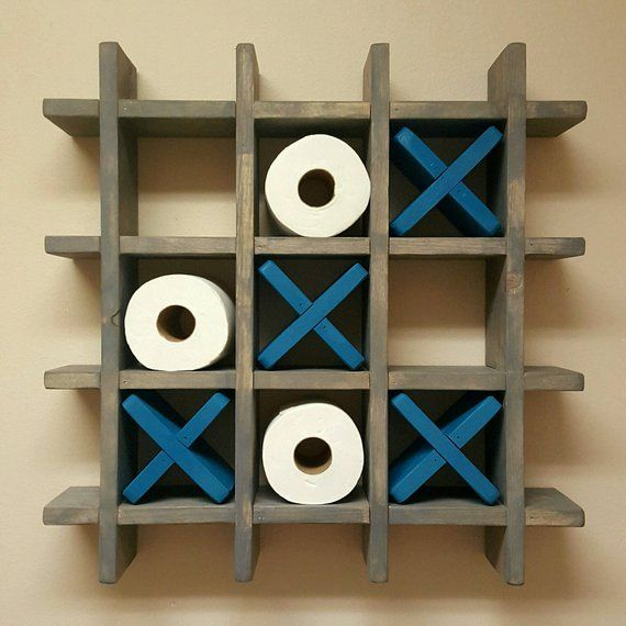 Bad Tic Tac Toe Toilet Paper Holder Toilet Paper Tic | Etsy