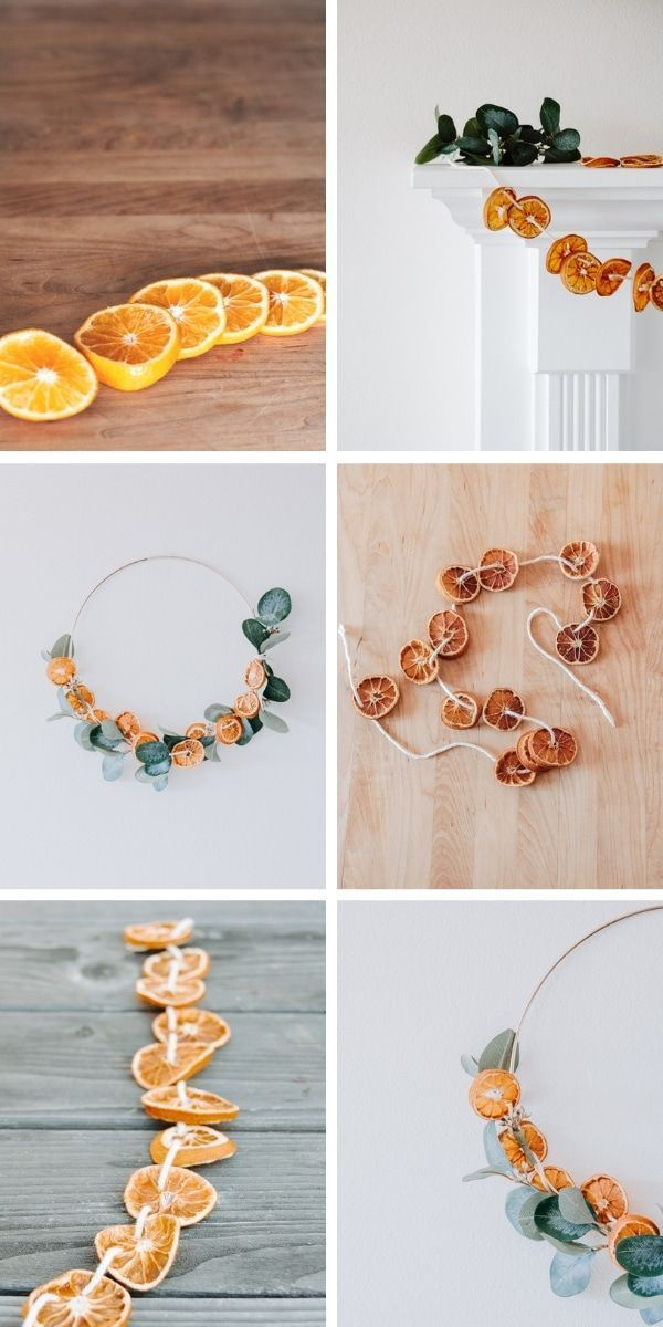 DIY dried orange garland. Make this pretty garland just right ...