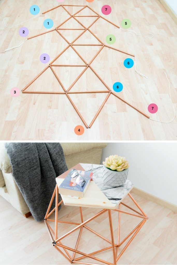 Table with copper pipes DIY #Cooper #diy #table #pipe Source by iremsude28262 ...