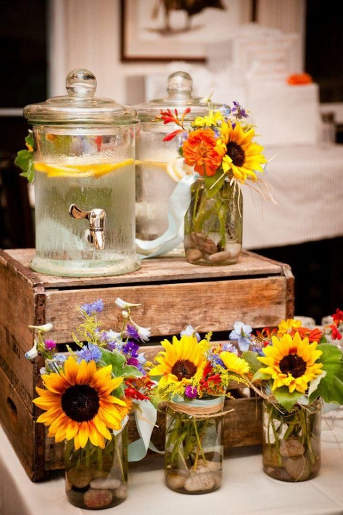 Rustic Wedding: 80 Decorating Ideas, Photos and DIY # Table Decorations # Wedding Decorations ...