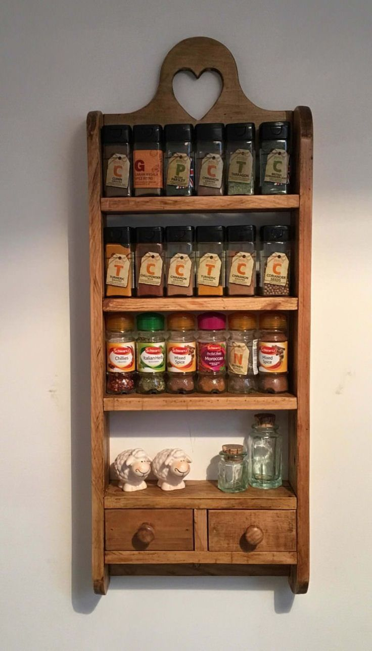 2-drawer Pallet Spice Rack Pallet Shelves & Pallet Coat Hangers  2-drawer Pallet...
