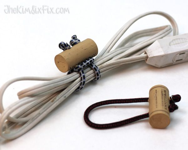 Wine Cork Cord Ties. Thanks, I just found a cool way to secure some errant hoses...