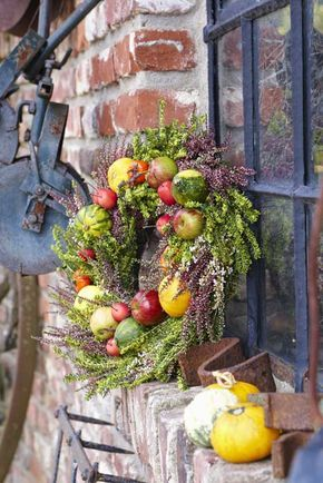 Autumn is harvest time. Bright fruits like apples and gourds became ...