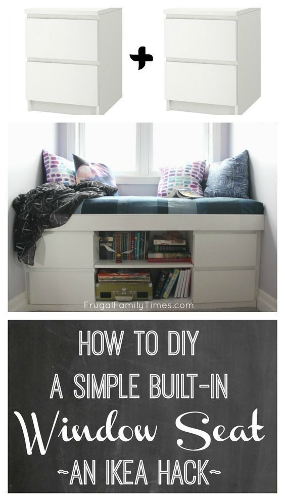 How to make a simple built-in window seat (an IKEA hack!) #Bast ...
