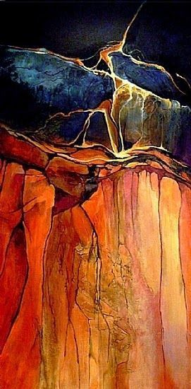"CAROL NELSON FINE ART BLOG: Geological abstract painting, ""Grand Canyon 1"" © C ..."