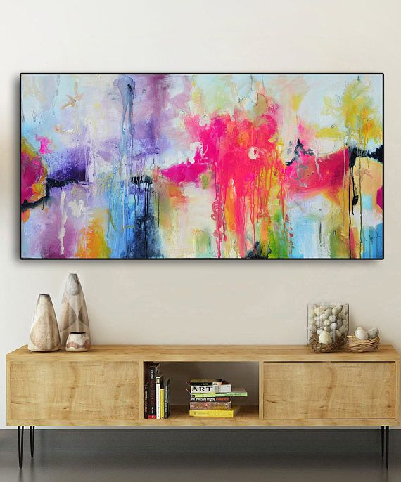 Abstract painting pink pink purple, purple blue print large pink painting print, lilac