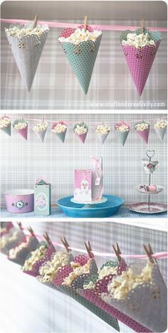 Popcorn Party Ideas - making paper hat