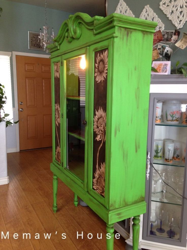 Hutch restoration furniture makeover idea. A beautiful before and after furnitur...