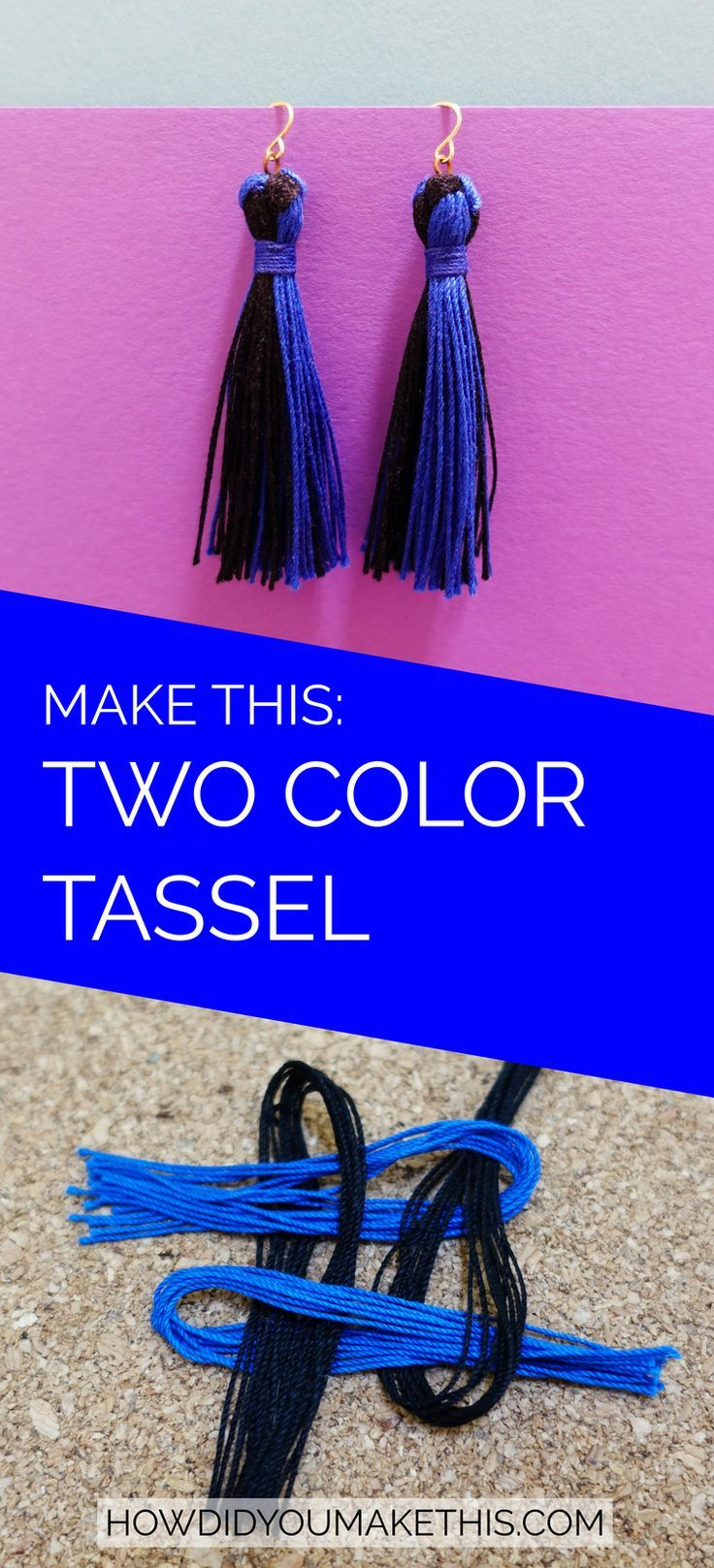 Make your own trendy tassel earrings in the colors you want ...