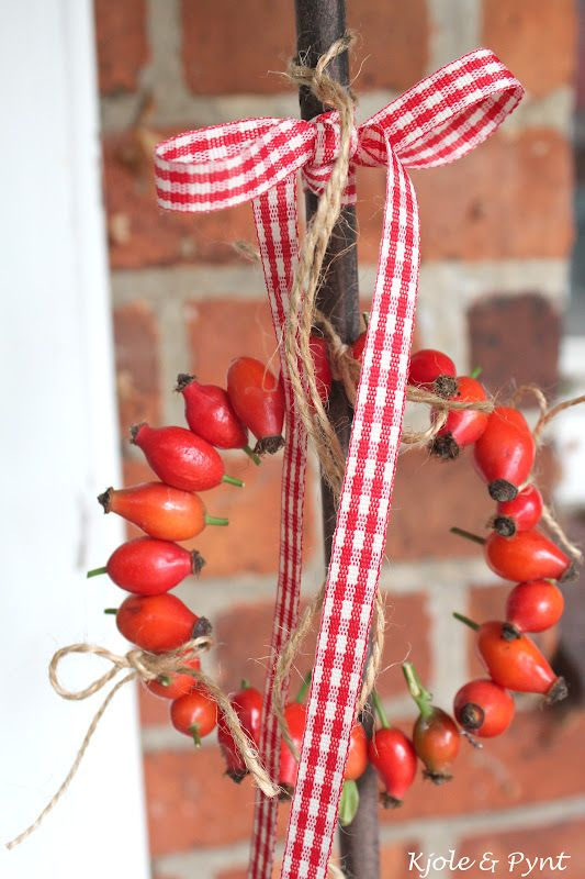 seidenfeins Blog from the beautiful country life: Rosehip Wreath & Mini DIY * roseh ...