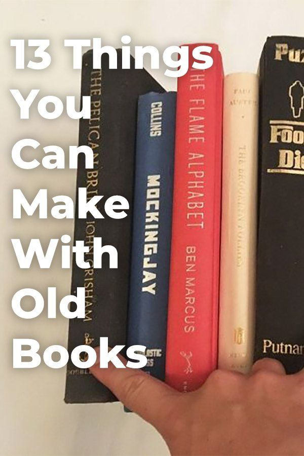 13 Shocking things you can do with old unwanted books