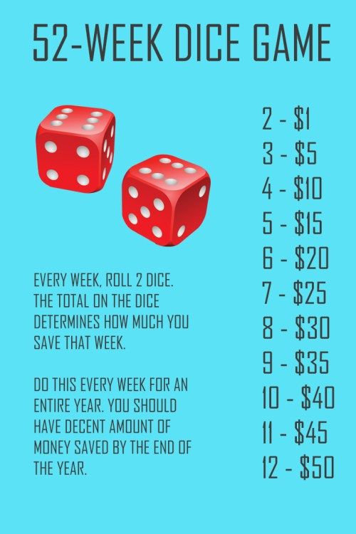 Money savings challenge to save more money. Save over $5000 in 52 weeks. Use the...