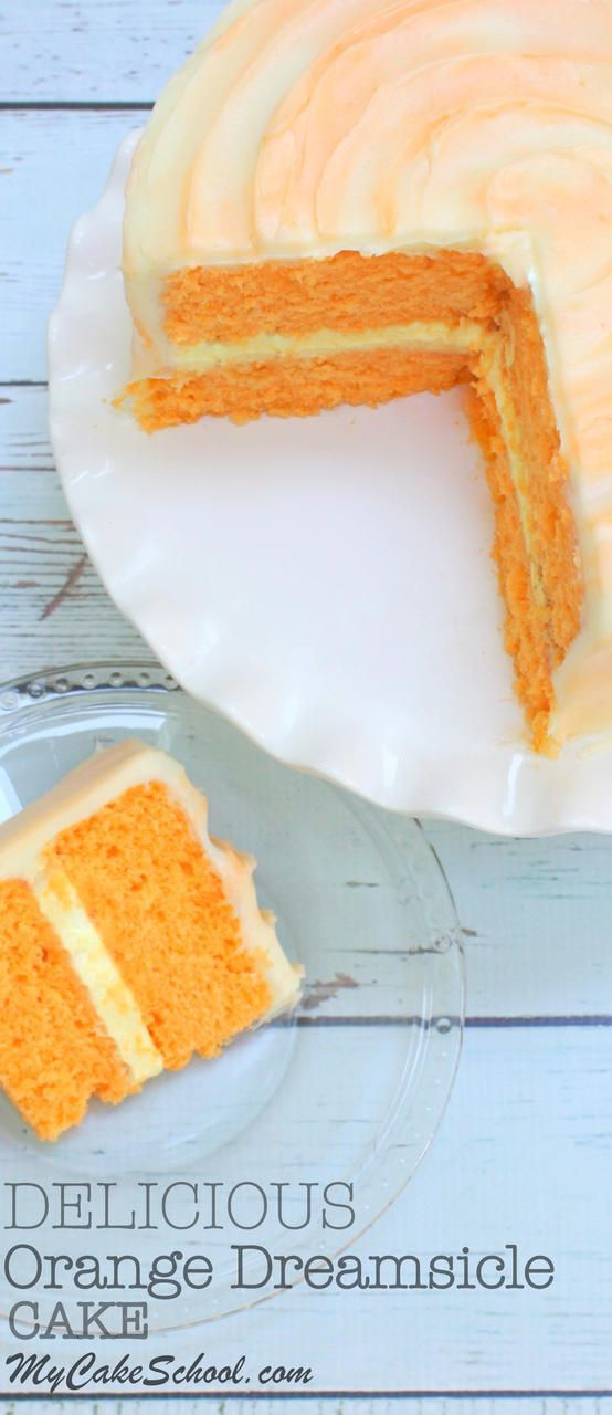 Orange Dreamsicle Cake- Delicious Homemade This soft and fluffy lemon blueberry ...