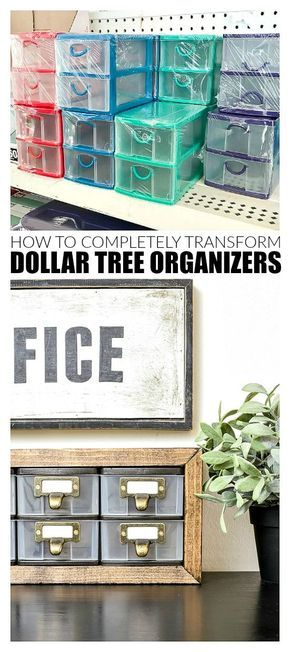Transform Dollar Tree Organizers In a Few Easy Steps | Little House of Four - Cr...