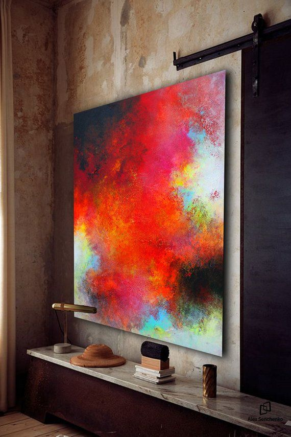 LargeWall Art Original Abstract Painting for Decor Contemporary Wall Art Modern ...