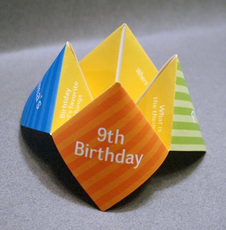 Kids Birthday Invitation Cootie Catcher // Invitation #Children's Birthday # ...