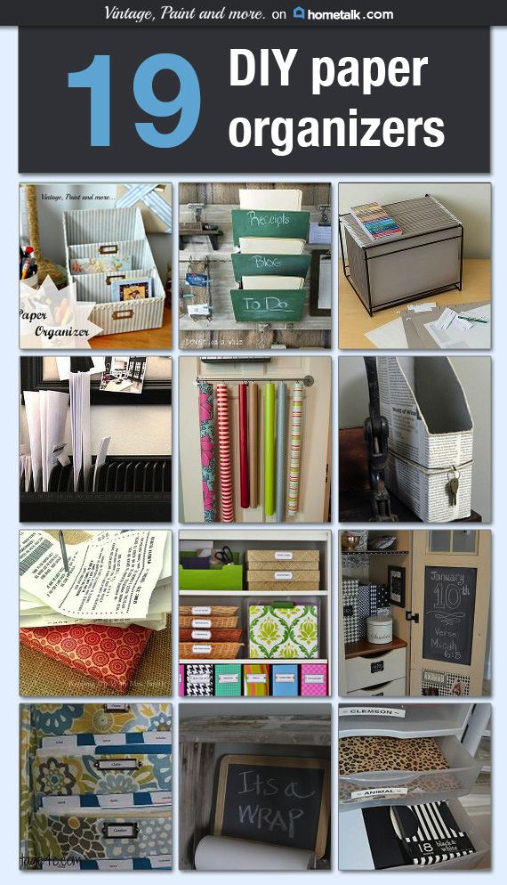 Vintage, Paint and more... Hometalk - DIY Paper Organizers A collection of DIY p...