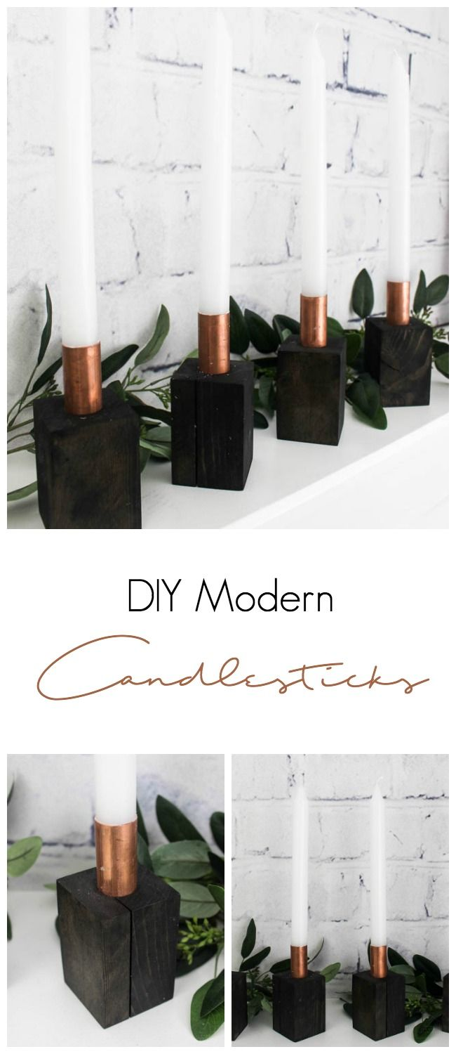 I love these beautiful modern Candlesticks. All you need for this easy DIY is so...