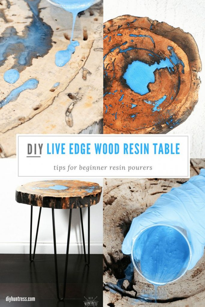 DIY Live Edge Wood Resin Table