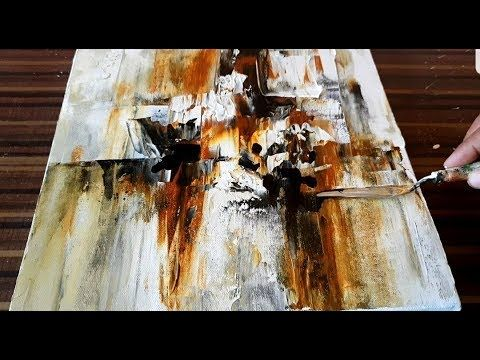 Making of Abstract Painting / Palette knife & Acrylics / Project 365 day...