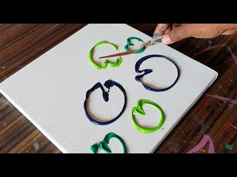Water Lillies / Abstract Painting Demonstration / Easy & Satisfying / Project 36...