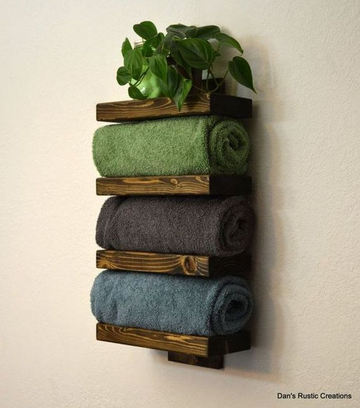 groß  Towel Rack Decoration Ideas to Match your Minimalist Bathroom  #basteln #...
