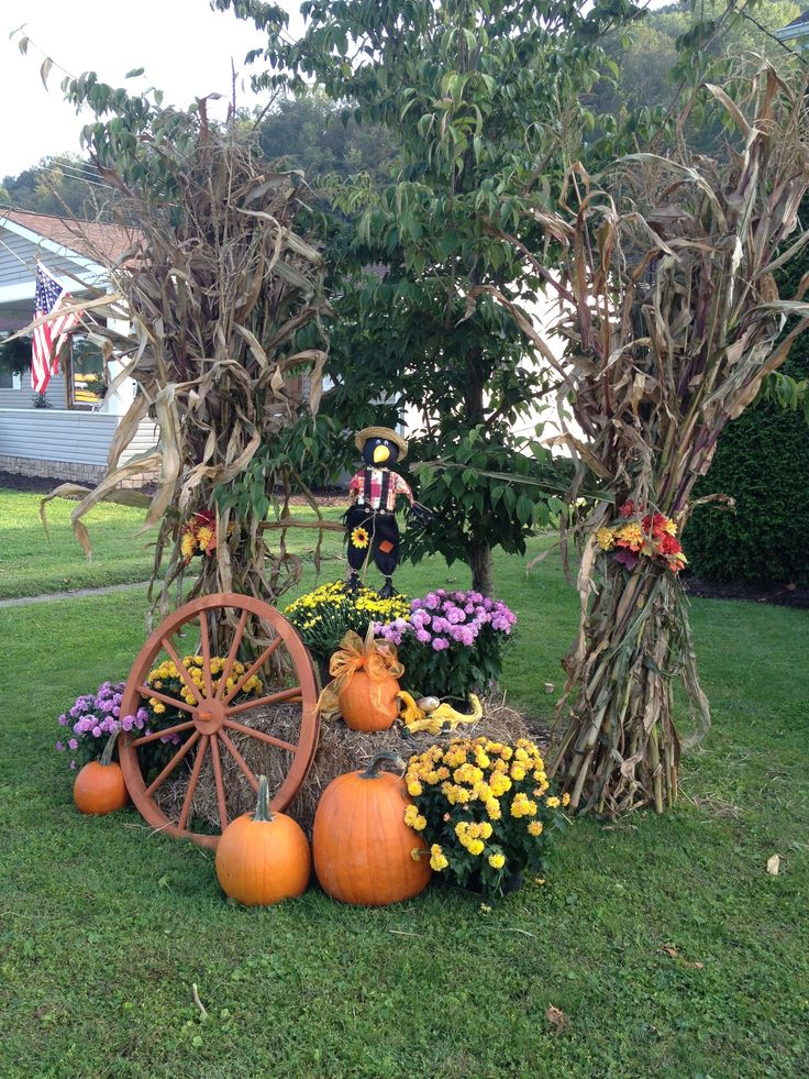 Outside Fall Decoration Fall Pinterest Fall Decor Fall Yard pertaining to Fall G...