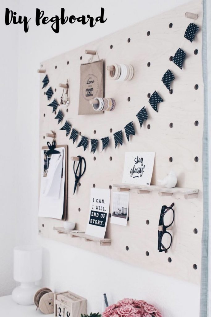 Diy Pegboard - pin board - punch board - furniture - making the hole plate yourself - working ...