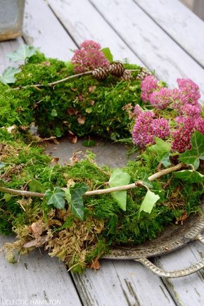 DIY moss wreath - easy and fast bound