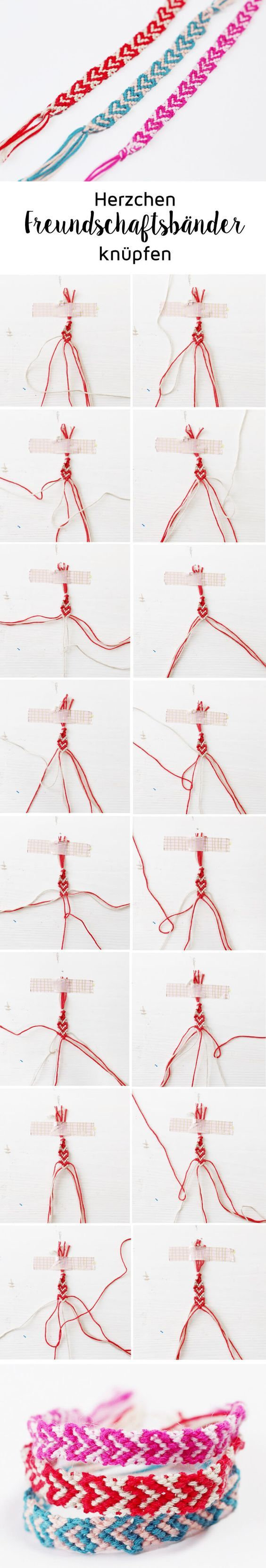 Making Friendship Bracelets with Hearts: Great Gift Idea for the Valentine ...
