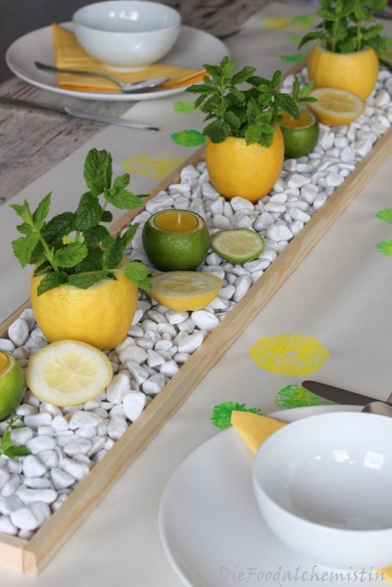 Give your dining table a happy and summery look with these ...