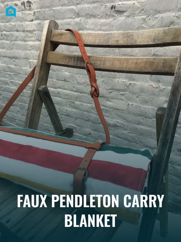 Pendleton blankets are wonderfully useful but expensive. Why not DIY the perfect...