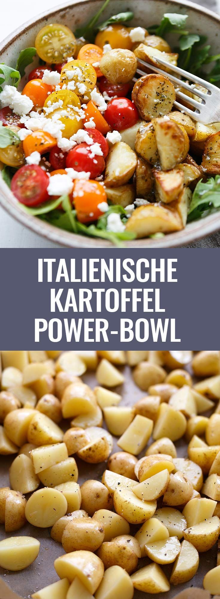 Italian Potato Power Bowl with Garlic Olive Oil Dressing. This simple ...
