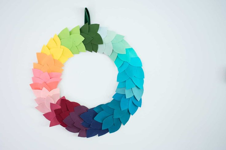 Colorful DIY Fall Wreath - At Charlotte's House