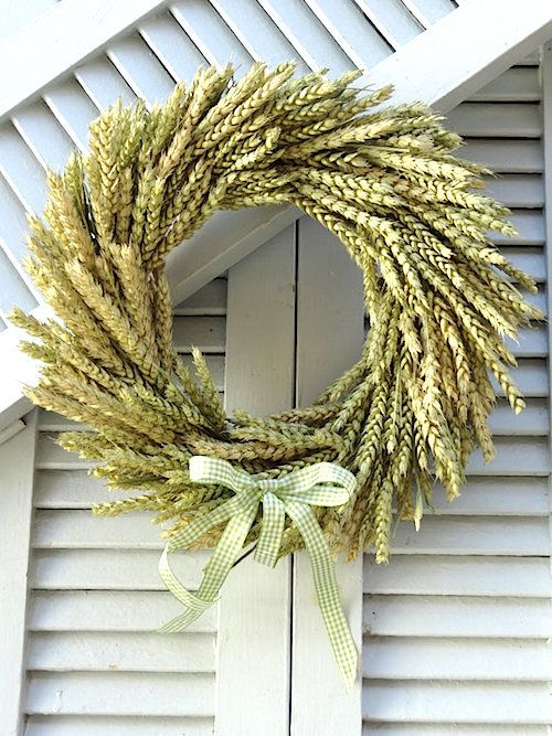 How to Make a Fall Wheat Wreath (Video). We love using organic materials to welc...