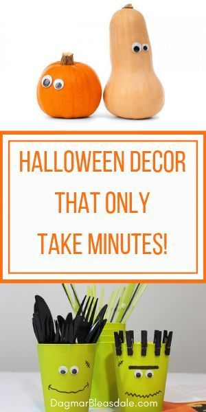 Halloween decor doesn't have to cost much or take a lot of time! Here are easy H...