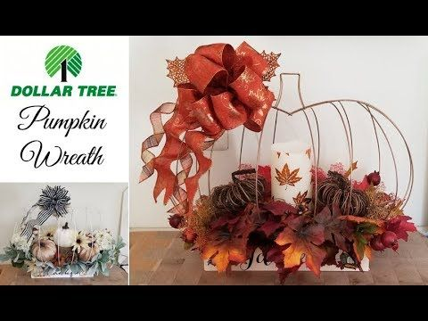 Dollar Tree Pumpkin Wreath DIY - YouTube