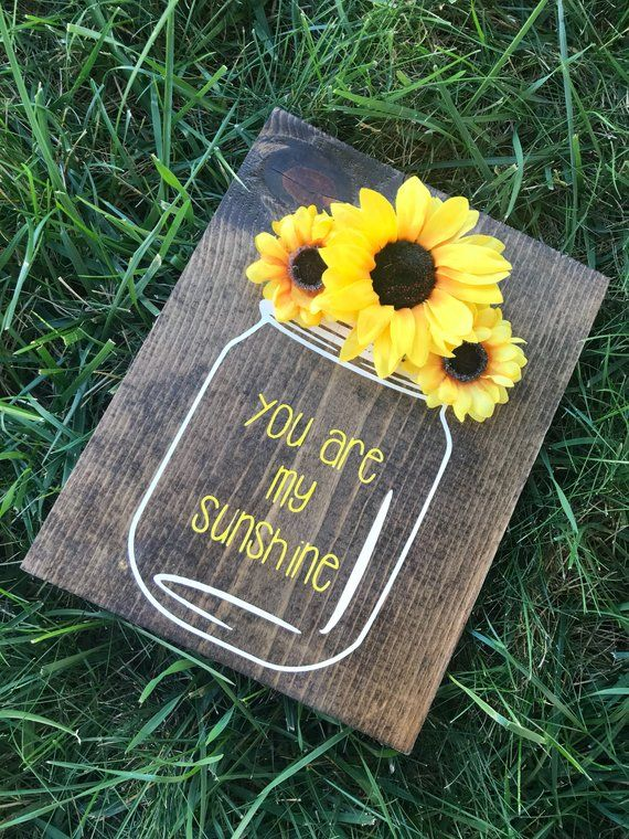 You are my sunshine wooden wall decor hand painted sign