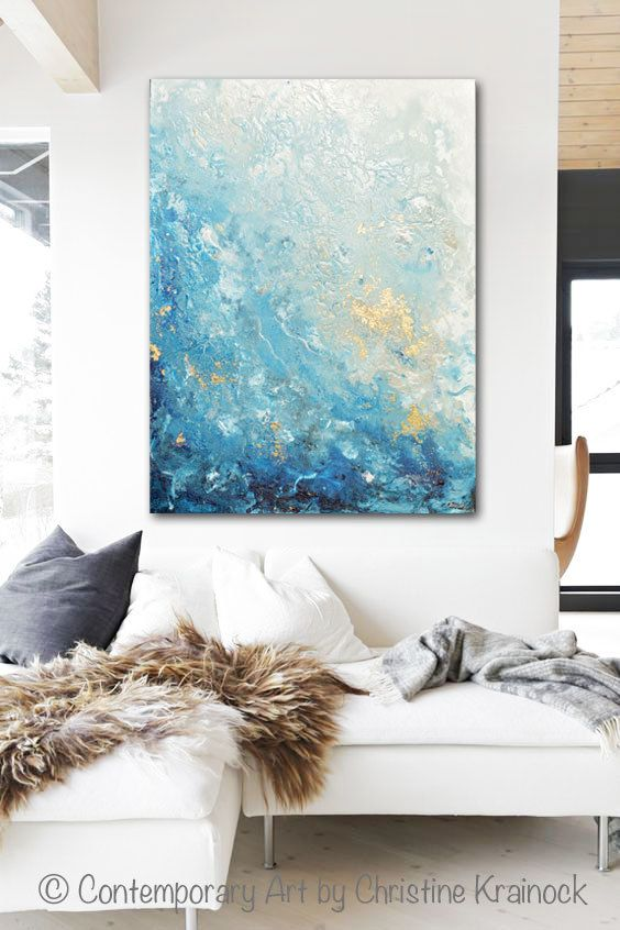 Drifting Away Giclee Print / Canvas Print of the Original Art Blue Abstract ...