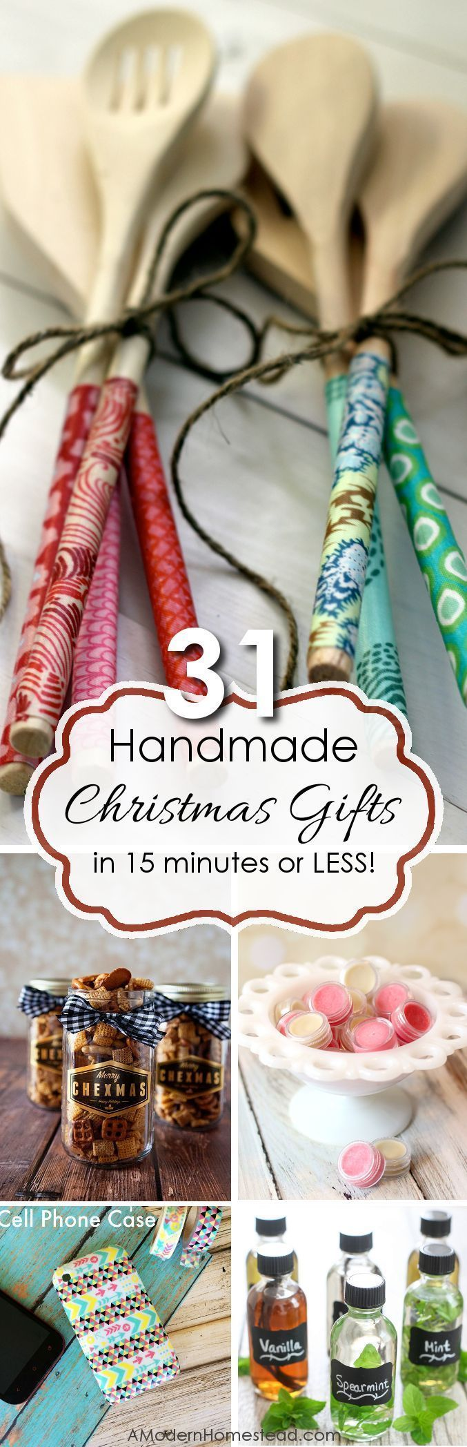 Handmade gifts in 15 minutes or less! - Christmas gifts - Handic ...