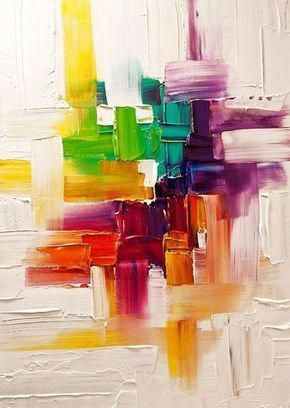 """Abstract-Painting-Ideas-For-Beginners #""""modernabstractartpainting"""""""