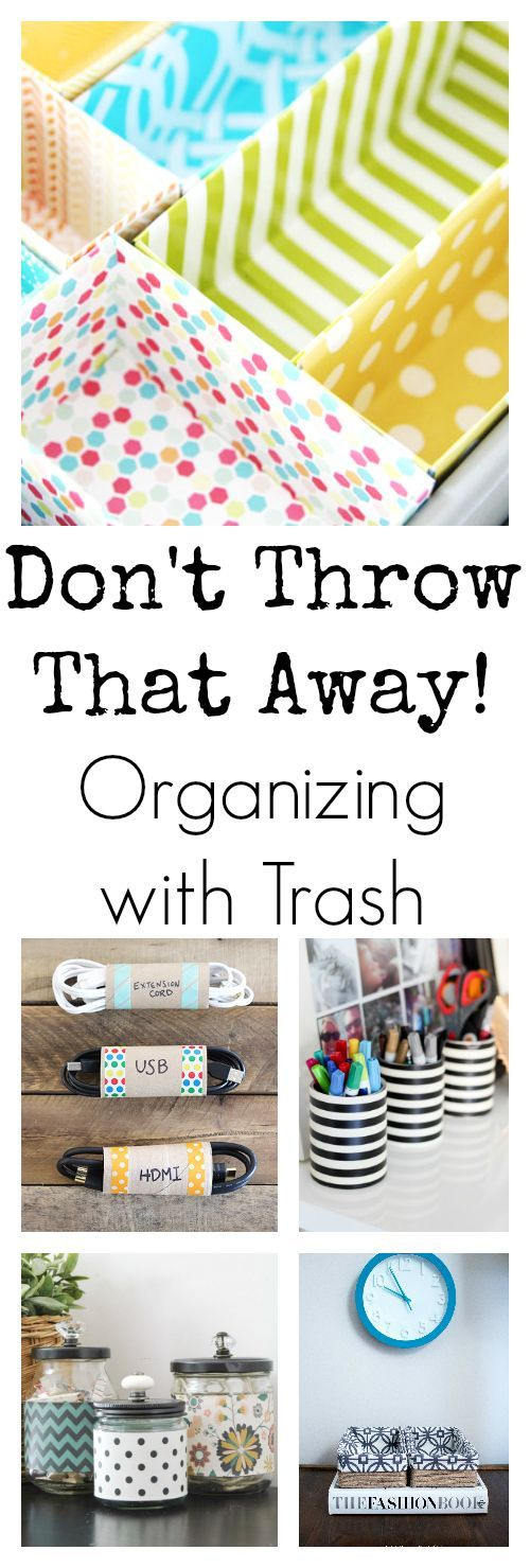 Organizing can get expensive! These ideas are amazing. Using boxes, cans and toi...