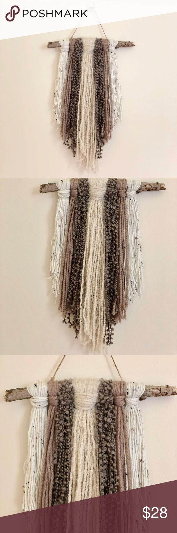 Bohemian Wall Hanger Bohemian, nature inspired wall hanger, is a straight branch...