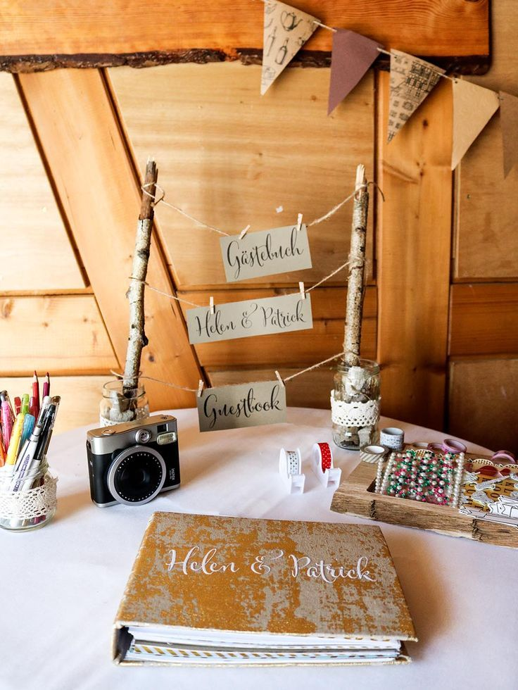 Make DIY Guest Book for the wedding yourself #boohochzeit #wedding #wedding ...