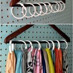 15 clever DIY scarf storage ideas # preservation ideas #clevere #decoration ...