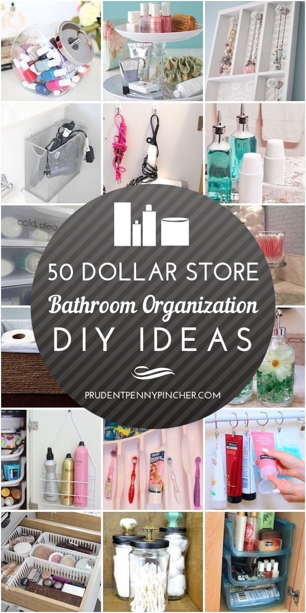 50 Dollar Store Bathroom Organization Ideas #organization #diy #dollartree #orga...