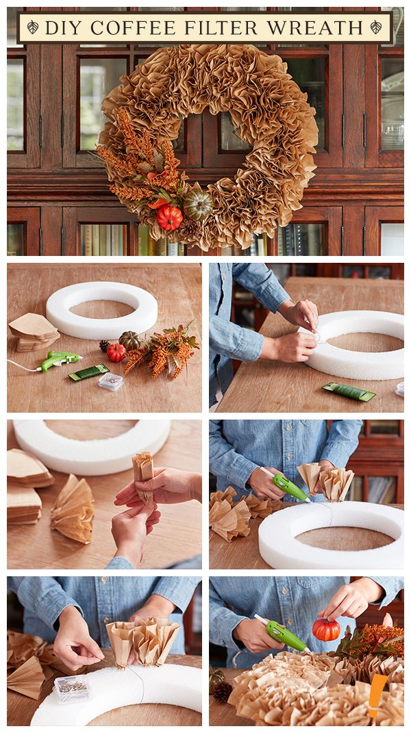 A fall wreath is a great way to greet your guests, but who knew it was this easy...