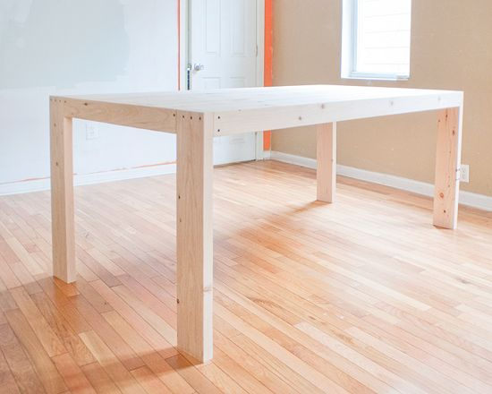How to Make a Farmhouse Table. Easy instructions so you can make your own over a...