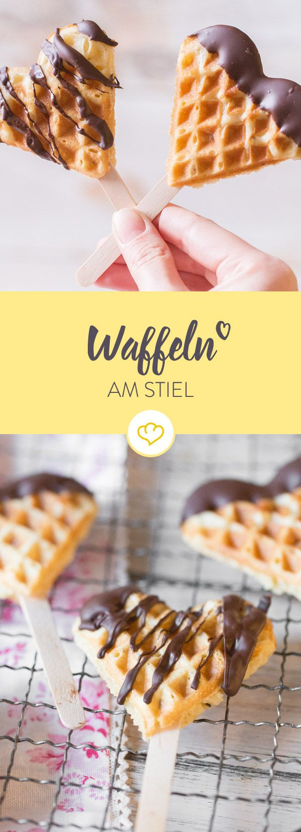 Why waffles on a stick? 1. Your hands stay clean 2. No annoying dishes ...