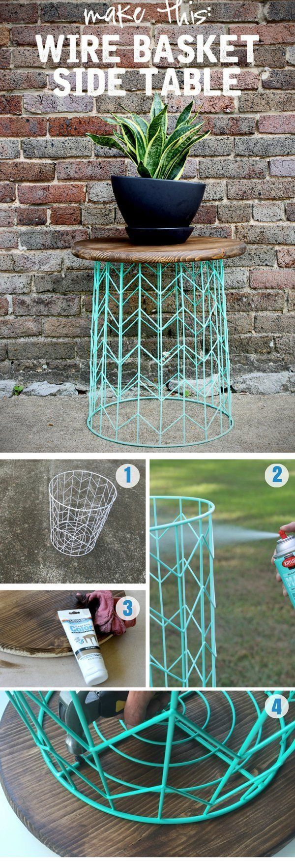 Make a statement in your home without breaking the bank. This DIY table is so ea...